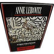ANNIE LEIBOVITZ (1949-) stylish hand signed and inscribed 1988 poster for Keith Haring ...