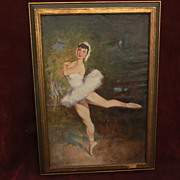 ANTAL JANCSEK (1907-1985) listed Hungarian art lovely ballerina oil painting