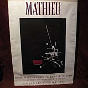 GEORGES MATHIEU (1921-2012) French modern abstract expressionist art 1963 museum poster