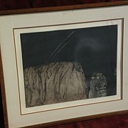 "AMADO MAURILLO PENA (1943-) New Mexico Arizona art limited edition pencil signed print ""P"
