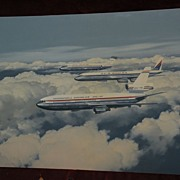 R.G. SMITH (1914-2001) HIGHLY IMPORTANT American aviation art LARGE painting of the Douglas ..
