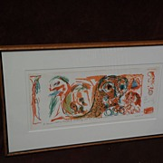 PIERRE ALECHINSKY (1927-) CoBra post war modern art major artist signed numbered limited edtio