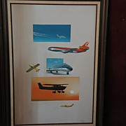 CRAIG KODERA (1956-) fine aviation art original oil painting of aircraft from Cessna to jumbo