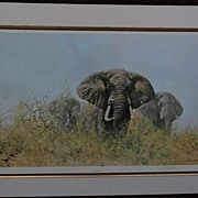 DAVID SHEPHERD (1931-) important African wildlife art pencil signed large photolithograph prin