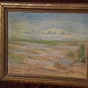 EUGENE FRANDZEN (1893-1972) California art desert scene plein air painting