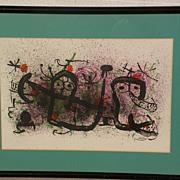 "JOAN MIRO (1893-1983) Spanish modern art original lithograph print circa 1970 ""Ma de Prov"