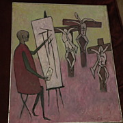 ERNST FRITSCH (1892-1965) important modern German expressionist art elegant large museum quali
