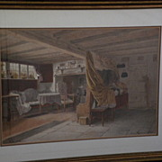 WALTER TOMLINSON 19th century English Victorian art superb large watercolor painting of Ann Ha