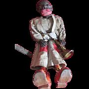 Black Americana Minstrel Man String Puppet Marionette