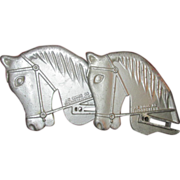 Pair of Vintage Playground Ride Horse Heads