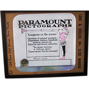 Coming Attraction Glass Slide Promoting Paramount Pictographs