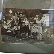 Vintage Turn of Century Photo Picnic and Poker