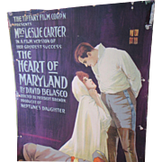 "Silent Film Poster Card 1915 ""The Heart of Maryland"""