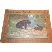 Vintage Children's Book Four Footed Wilderness People by E.W. Deming