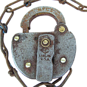 NYCS (New York Central System)  Slaymaker steel SWITCH LOCK