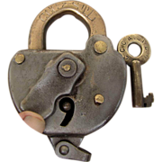 SOLD CCC&StL (Cleveland, Cincinnati,Chicago & St. Louis Railway ) Steel SWITCH LOCK and key