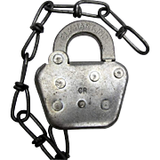 CR (CONRAIL) railroad - steel SWITCH LOCK, by Keline- no key