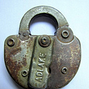 ICRR ( Illinois Central Railroad) Steel SWITCH LOCK, no key