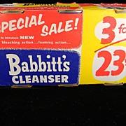 Vintage 1950 Babbitt's Cleanser in Original Packaging