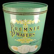 Vintage 1924 Bremner Wafers Tin