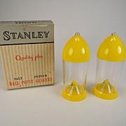 SOLD Vintage Stanley Ball Point Salt & Pepper Shakers in Original Box