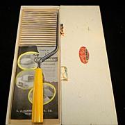 Vintage 1930's Cake Breaker with Yellow Bakelite Handle in Original Box