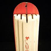 1930's Red & White Nuway Kitchen Knife Holder with Original Label