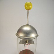 SOLD Unusual Food Chopper with Yellow Wooden Knob