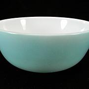 Hazel Atlas Blue Whiteware Cereal Bowl