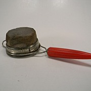 SOLD Vintage 1930's Androck Strainer with Red Bullet Bakelite Handle
