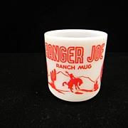Vintage Red Ranger Joe Kiddie Mug by Hazel Atlas