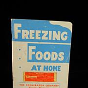 Vintage 1940's Freezing Foods at Home Booklet