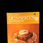 Vintage 1974 Betty Crocker's Desserts Cook Book