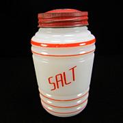 Vintage Hazel Atlas Round Ribbed Salt Shaker