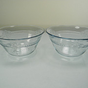 Two Fire King Sapphire Blue Individual Bakers/Custard Cups