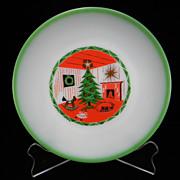 Rare 1950's - 1960's Federal Christmas Plate