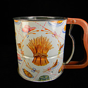 SOLD Vintage Androck Hand-i-Sift 3 Screen Flour Sifter