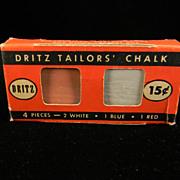 Vintage 1940's Dritz Tailor's Chalk in Original Box