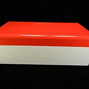 SOLD Vintage Red & White American Home Menu Maker Recipe Box with Original Label