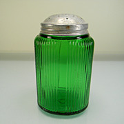 SOLD Vintage Forest Green Ovoid Owens-Illinois Shaker