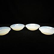 Four Cremax/Ivrene Petalware Cereal Bowls by Mac-Beth Evans