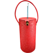 SOLD Vintage Red 1950's Seligman of New York Knitting Bag