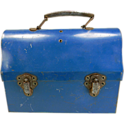 SOLD Vintage Blue Lunch Box & Thermos