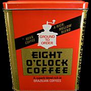 Vintage Eight O'Clock Coffee Tin