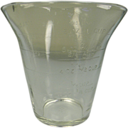 Vintage Crystal 3 Spout Measuring Cup by Federal Glass