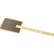 SOLD Vintage Red Trimmed Fly Swatter with Advertising