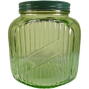 Hocking Green 64 oz. Canister/Cookie Jar
