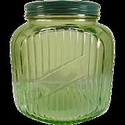 Hocking Green 64 oz. Canister/Cookie Jar