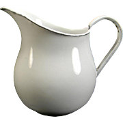 Vintage White Enamel Milk Pitcher/Creamer
