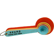 SOLD Colorful Vintage Plastic Measuring Spoons with Sears Advertising
